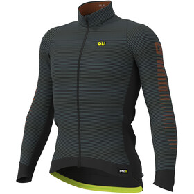 Alé Cycling Graphics PRR Thermo Road Maillot À Manches Longues Homme, black-fluo yellow